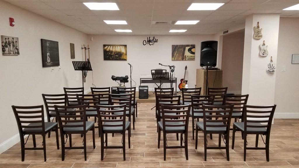 drug and alcohol rehab florida music room