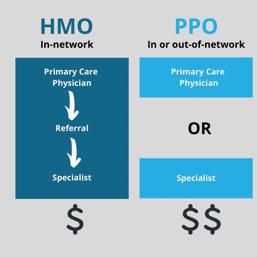 HMO vs PPO insurance for rehab